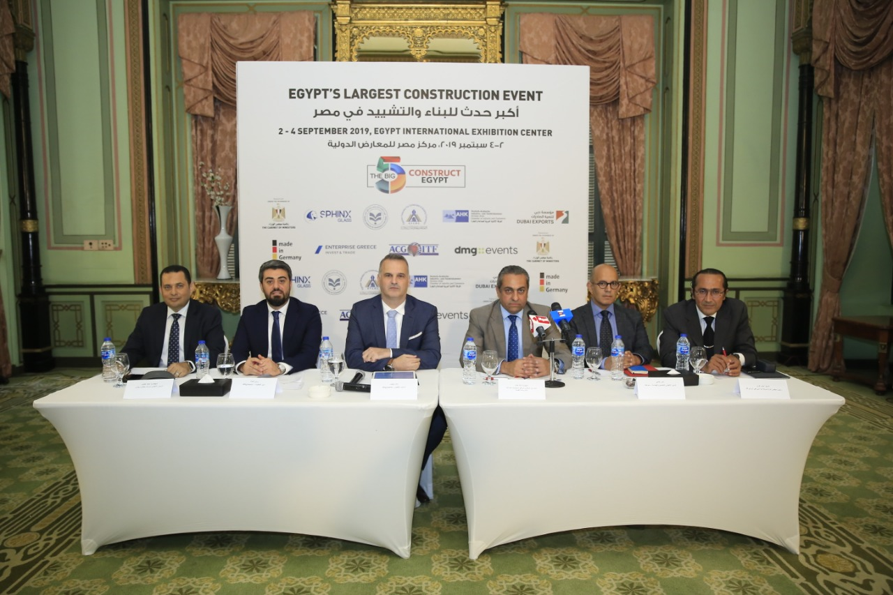 THE BIG 5 CONSTRUCT EGYPT PRESENTS ITS 2019 EDITION Total investments in construction exceed EGP 200 billion